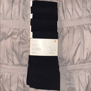 NEW A new day black nylon trouser socks 6 pairs.